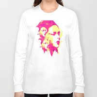 faces Long Sleeve T-shirts featuring Faces by Paola Rassu