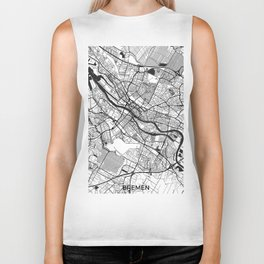 Bremen Map Gray Biker Tank