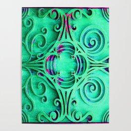 Ornate Flourish Art Deco Detail Poster