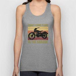 I can't. I have plans in the garage. Vintage Biker Unisex Tank Top