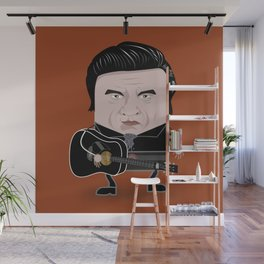 Johnny Cash - Funny Cubes Series Wall Mural