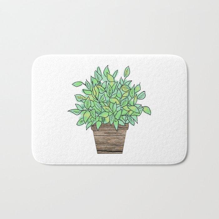 Little Potted Plant Bath Mat