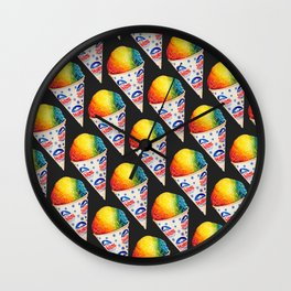 Snow Cone Pattern Wall Clock