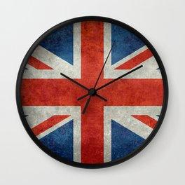 "UK British Union Jack flag ""Bright"" retro Wall Clock"