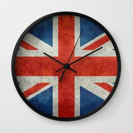"UK British Union Jack flag ""Bright"" retro Wall Clock"