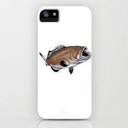 Lucky Grouper Fishing Shirt iPhone Case