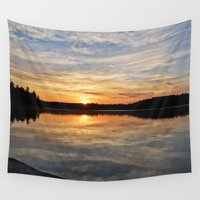 minnesota Wall Tapestries featuring Minnesota Sunrise by Heartland Photography By SJW