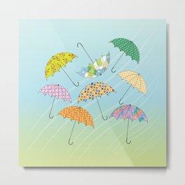Dance of Umbrellas Metal Print