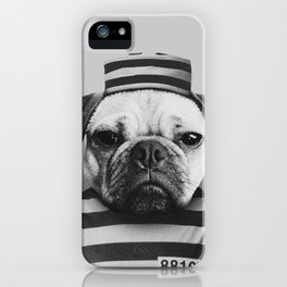 Pug Convict iPhone Case
