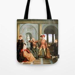 Washington Allston Scene from Shakespeare's The Taming of the Shrew (Katharina and Petruchio) Tote Bag