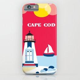 Cape Cod, Massachusetts - Skyline Illustration by Loose Petals iPhone Case