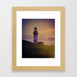 Light In The Clouds Framed Art Print