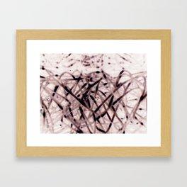 Nega Wires Framed Art Print
