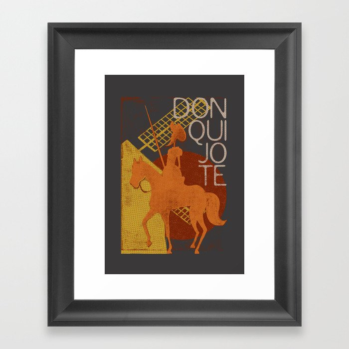 Books Collection: Don Quixote Framed Art Print