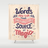 risa rodil Shower Curtains featuring Source of Magic by Risa Rodil