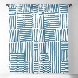 Blue stripes Blackout Curtain