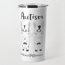 Autism Embrace Differences Travel Mug