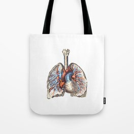 Fill Your Lungs. Vintage Colour Print Illustration Tote Bag