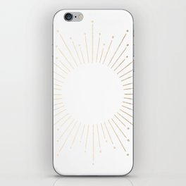 Simply Sunburst in White Gold Sands on White iPhone Skin