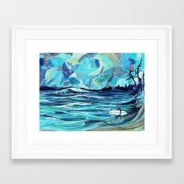 Surf Check Framed Art Print