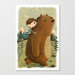 Making Friends Canvas Print
