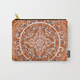 Detailed Burnt Orange Mandala Carry-All Pouch