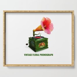 ORGANIC INVENTIONS SERIES: Vintage Floral Phonograph Serving Tray
