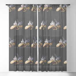 Crazy Bird Sheer Curtain