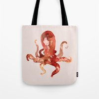 custom Tote Bags featuring octo by Okti