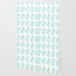 Palm Leaves Pattern #1 #Mint #decor #art #society6 Wallpaper