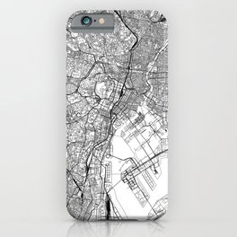 Tokyo White Map iPhone Case