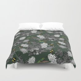 Hummingbirds and Bees (don't let them fade away) Duvet Cover