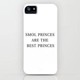 Smol Bookish YA Princes White iPhone Case
