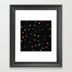Pin Point Triangles Black Framed Art Print