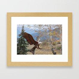 American Eagle in Autumn Framed Art Print