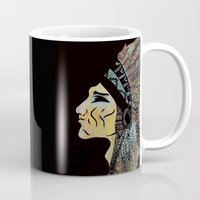 native Mugs featuring Native by Red Dust