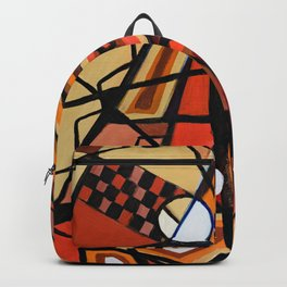 Geometric Composition Backpack