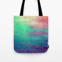 pixel Tote Bags featuring piXel by 2sweet4words Designs