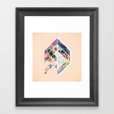 Geoflower Framed Art Print