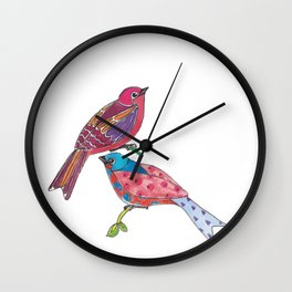 Birds of a Colour Wall Clock