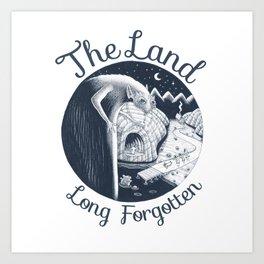 The Land Long Forgotten (w. text) Art Print