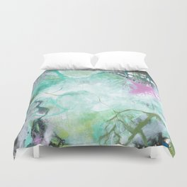 The Queen's Tear - Square Abstract Expressionism Duvet Cover