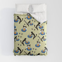 Cat and Fishbowl Comforters