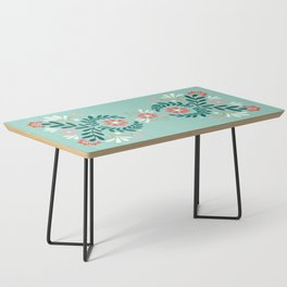 Floral Folk Pattern Coffee Table