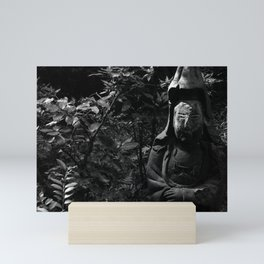 Figure in the forest Mini Art Print