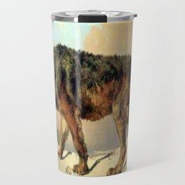 Sibirischer Wolf Travel Mug