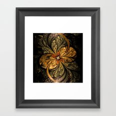 Shining Leaves Fractal Art Framed Art Print