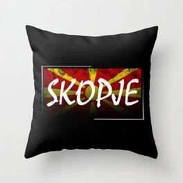 Skopje Throw Pillow