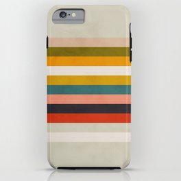modern abstract stripe geometric iPhone Case