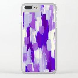 Purple Cora Clear iPhone Case